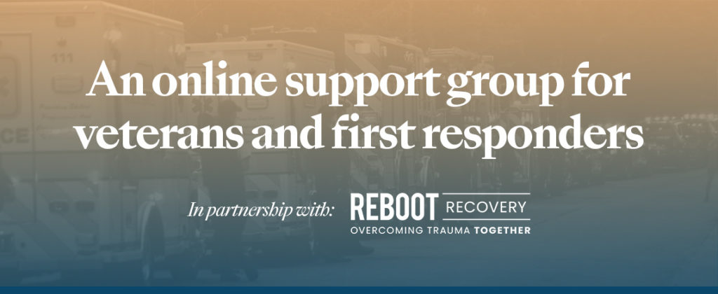 An online support group for veterans and first responders